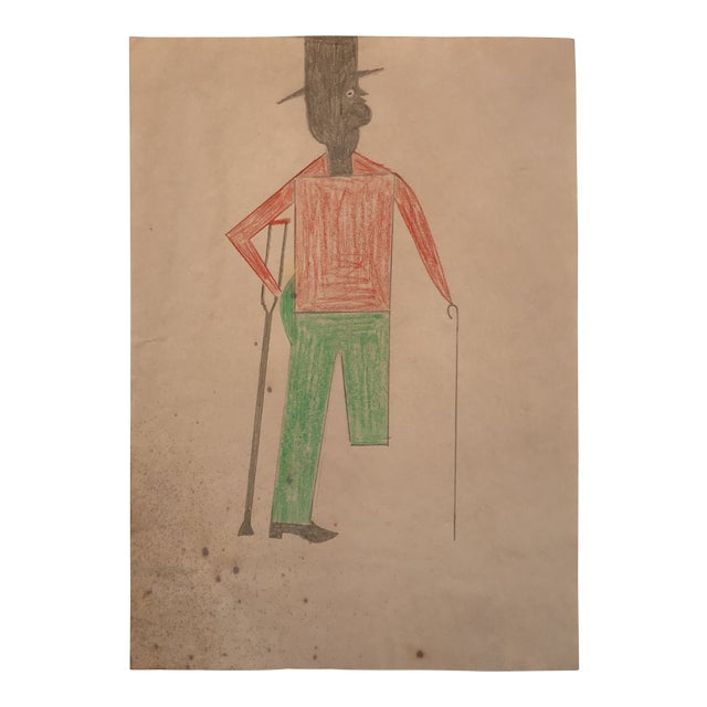 Bill Traylor Inspired Outsider Art Drawing For Sale