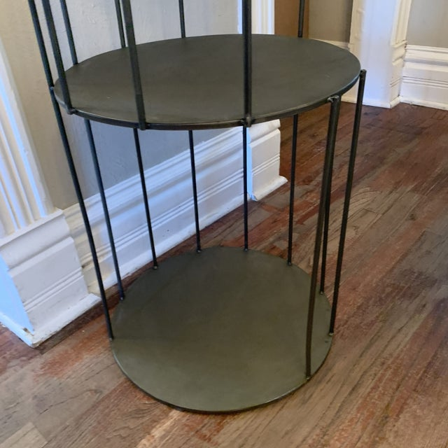 Kalalou Tall Metal Round Side Table For Sale - Image 10 of 13