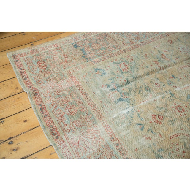 """Distressed Antique Sultanabad Carpet - 9' X 12'5"""" For Sale In New York - Image 6 of 10"""
