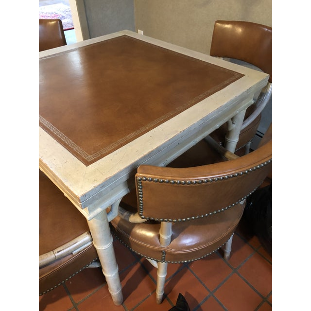 Vintage Game and Card Table With Chairs For Sale - Image 10 of 13