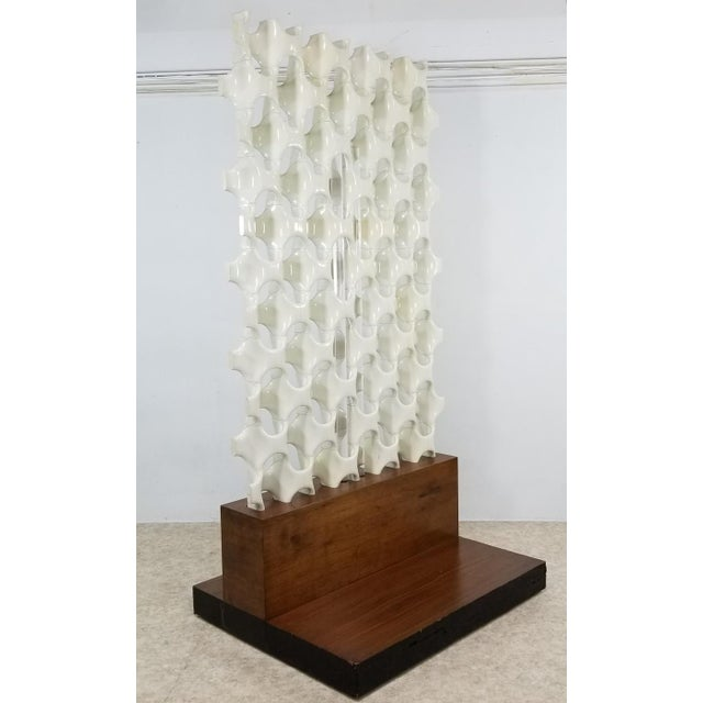 """A large and rare room divider screens designed by Richard Harvey in the 1960s. These are often referred to as the """"Bones""""..."""