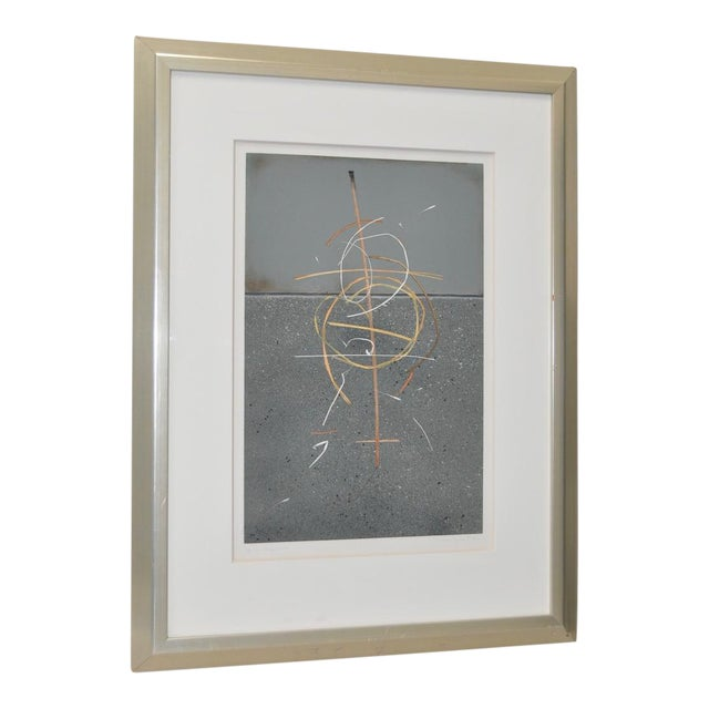 """Theodora Varnay Jones """"On the Surface #87"""" Signed Print c.1990s For Sale"""