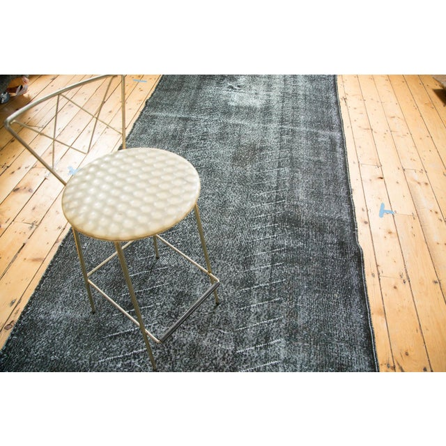 """Vintage Overdyed Distressed Runner - 4'8"""" x 12'6"""" - Image 9 of 9"""