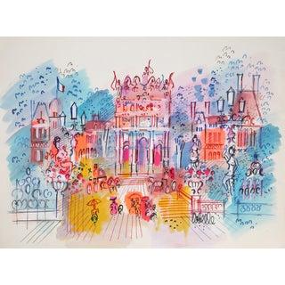 """Charles Cobelle, """"Les Tuileries"""", Paris Cityscape Painting"""