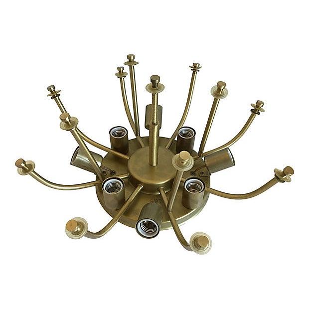 1970s Modern Ceiling Chandelier by Zero Quattro For Sale - Image 10 of 11
