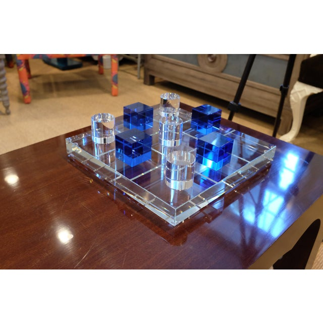 Contemporary Modern Crystal Game Board For Sale - Image 3 of 11