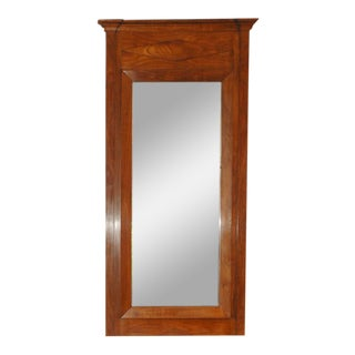 19th Century Fruitwood Walnut Directoire Mirror For Sale