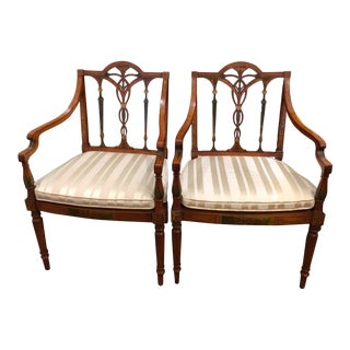 1900s Hand Painted Side Chairs - a Pair For Sale