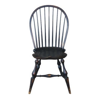 Vintage River Bend Chair Co. Windsor Bow Back Colonial Desk Accent Side Chair For Sale