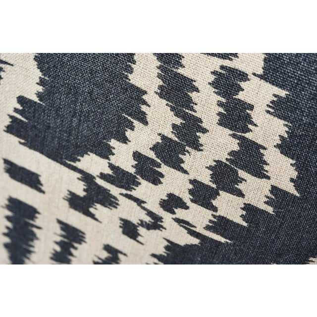 This sophisticated yet relaxed, contemporary Schumacher Ikat is printed on unbleached linen. The substantial weight and...