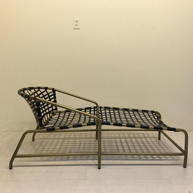 Hollywood Regency Brown Jordan Kantan Chaise Lounge Chair For Sale - Image 3 of 4