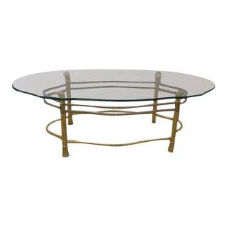 1970s Brass & Chrome Coffee Table