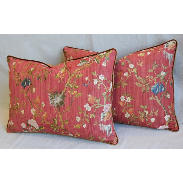 """Italian Scalamandre Melograno Silk Feather/Down Pillows 26"""" X 18"""" - Pair For Sale - Image 9 of 13"""