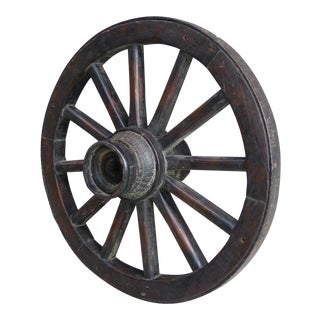 Antique Forged Steel Wagon Wheel For Sale
