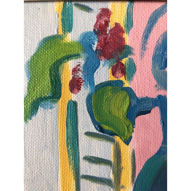 1990s The Yellow Table Impressionist Painting 1990s For Sale - Image 5 of 9