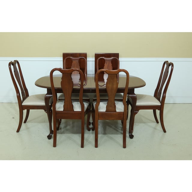 Knob Creek by Ethan Allen Cherry Dining Room Set For Sale - Image 13 of 13