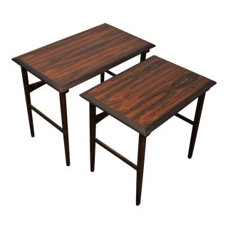 Original Danish Mid Century Rosewood Nesting Table - Grenaa - a Pair For Sale