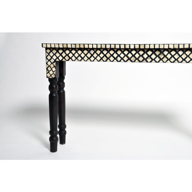 Bone Inlay Console Table For Sale - Image 4 of 13