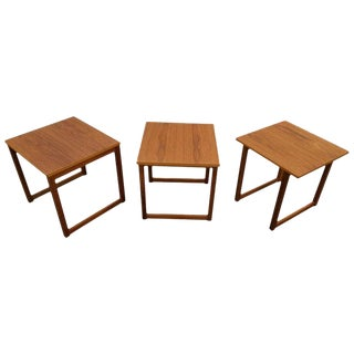 Kai Kristiansen Cube Nesting End Tables For Sale