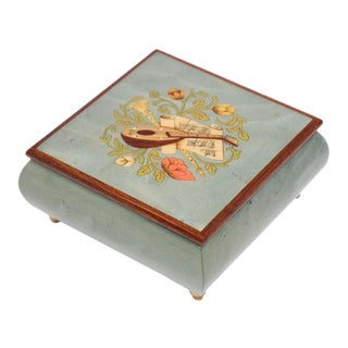 Blue Jewelry Music Box, Made in Italy For Sale