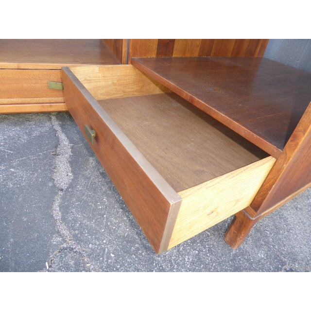 Vintage Danish Mid Century Modern Walnut Coffee & End Table - Set of 2 For Sale - Image 9 of 13