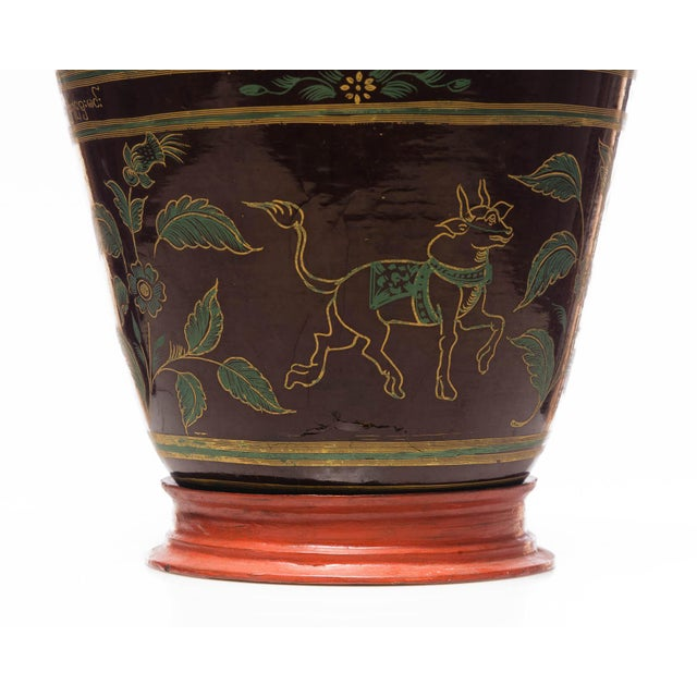 Southeast Asia Antique Burmese Lacquer Ginger Jar For Sale - Image 4 of 7