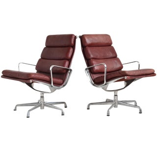 Eames Soft Pad Lounge Chairs by Herman Miller For Sale