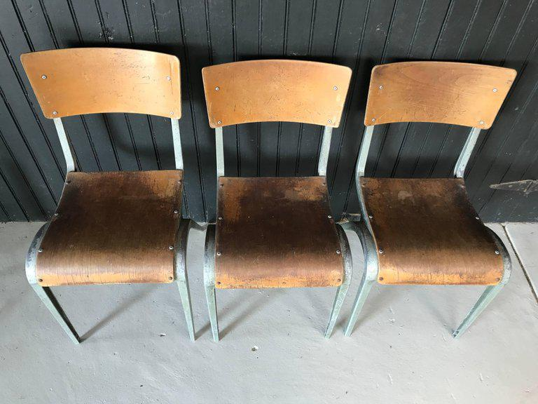 James Leonard For Esavian French Industrial Chairs   Set Of 3   Image 3 Of 6