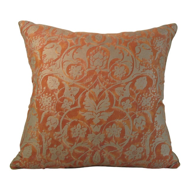 Modern Italian Fortuny Pillow For Sale