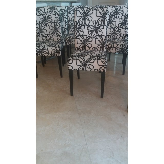 Black & White Parsons Dining Chairs - Set of 6 - Image 3 of 7