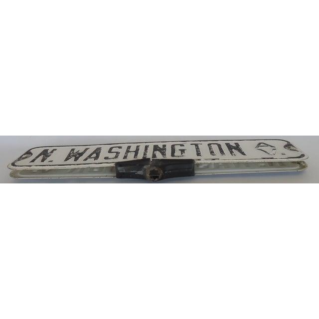 Vintage Street Sign, N Washington Ave For Sale - Image 5 of 6
