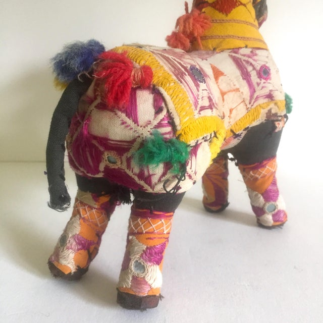 Vintage Indian Patchwork Horse Figurine For Sale - Image 10 of 11