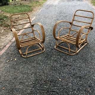 Vintage Rattan Frankl Style Pair Lounge Chairs - A Pair Preview