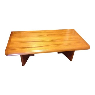1980s Modern Teak Nordic Furniture Coffee Table For Sale