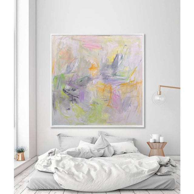 """""""Sydney Sunrise"""" by Trixie Pitts Large Abstract Expressionist Oil Painting For Sale - Image 9 of 13"""