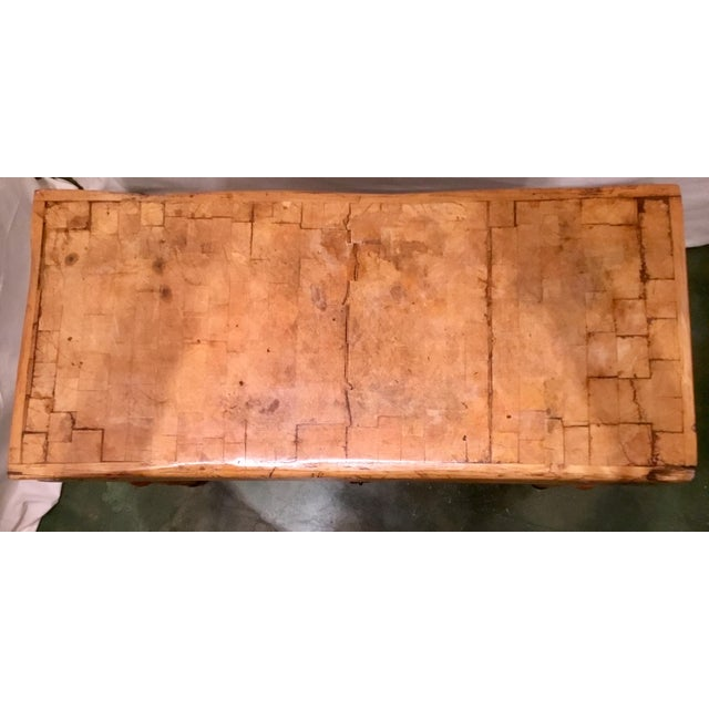 19th C. French Carved Butcher Block Table For Sale In Los Angeles - Image 6 of 13