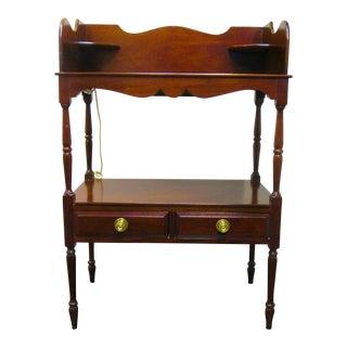 Vintage Wooden Serving Table For Sale