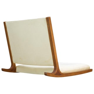 Midcentury Japanese Tamtami Rocking Lounge Chair by Junzo Sakakura, Tendo Mokko For Sale
