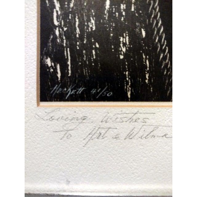 "Jane Heckett ""Seagulls"" Knife Etching - Image 5 of 9"