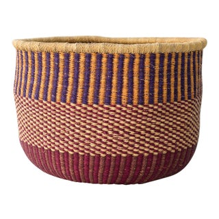 African Storage Basket For Sale