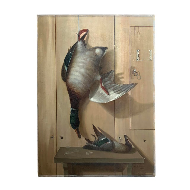 19th Century American Trompe l'Oeil Hunt Painting For Sale - Image 11 of 11