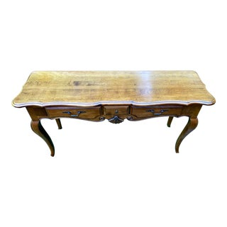 French Country Ethan Allen Sofa Table For Sale