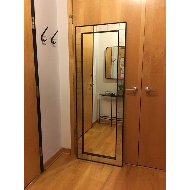 West Elm Tile Floor Mirror - Image 2 of 5