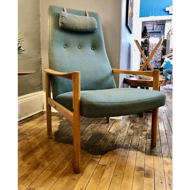 Vintage Swedish Modern High-Back Lounge Chair For Sale - Image 13 of 13