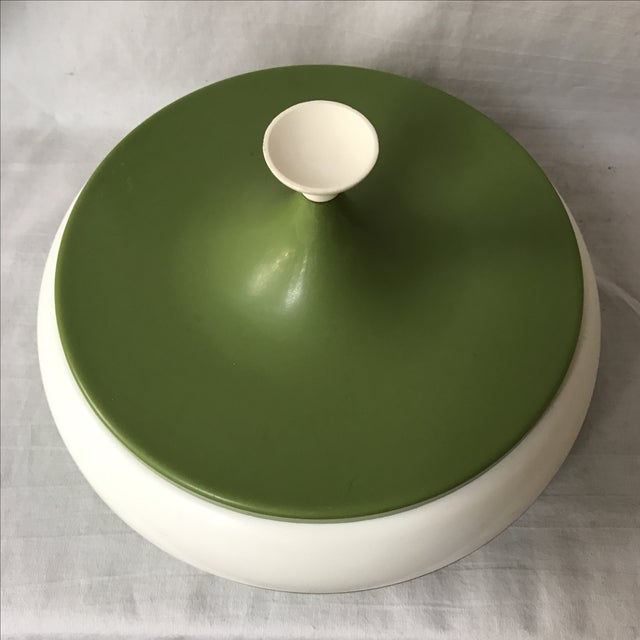 Mid-Century Modern Vintage Green Lidded Canister For Sale - Image 3 of 5
