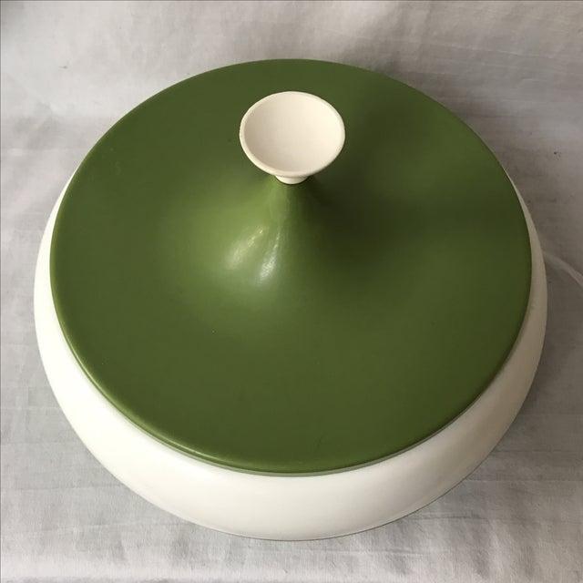 Vintage Green Lidded Canister - Image 3 of 5