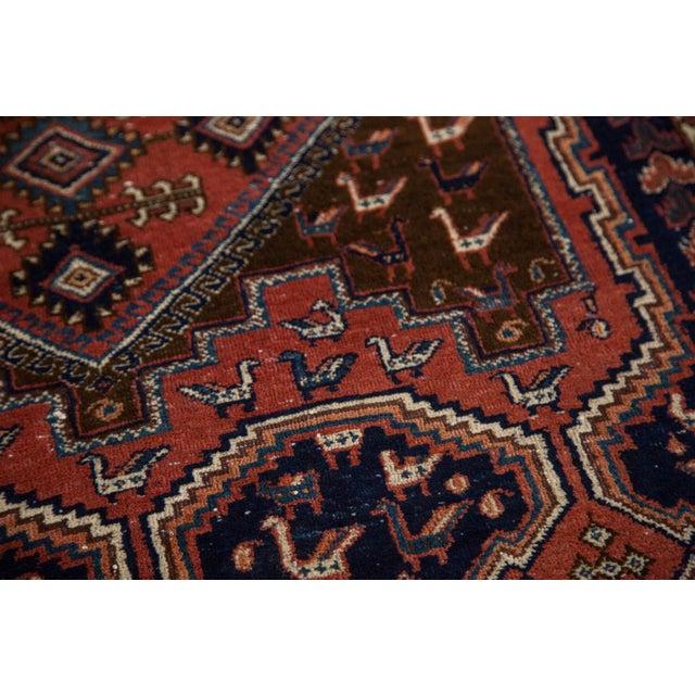 "Vintage Persian Afshar Rug - 3'6"" X 4'8"" - Image 4 of 8"