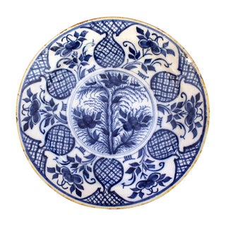 18th Century Delft Charger For Sale