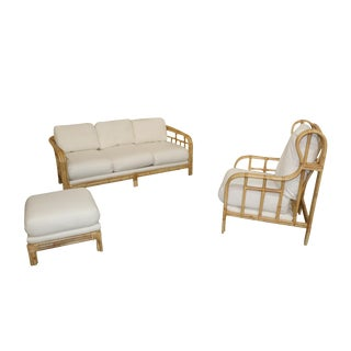 Ralph Lauren Bamboo Seating Set- 3 Pieces For Sale