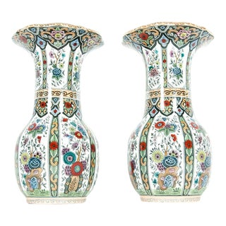 Vintage Porcelain Dutch Vases - a Pair For Sale